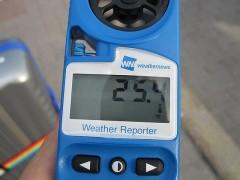 気温25度ちょっと
