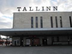 寂しい感じのタリン駅