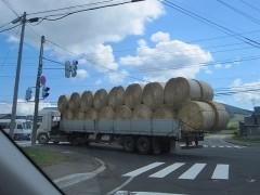 先を行くトラックも北海道らしい