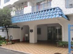 ここにも青い瓦のマンション
