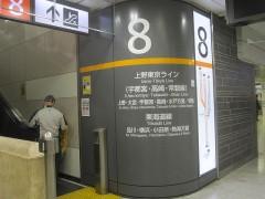 東京駅の上野東京ラインの案内表示