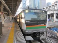 上野へ向かう列車