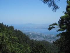 途中で琵琶湖を一望