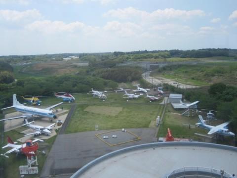 展示されている飛行機たち