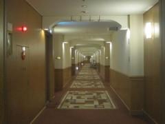 客室へ続く廊下