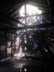 こちらも同じく天井から太陽の光が差し込む