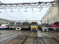 京急車や大江戸線用の車両も