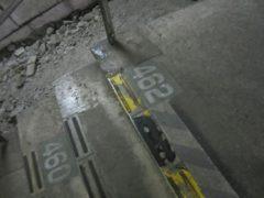 階段の段数が書かれてる・・・462段の階段