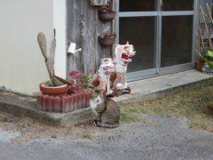猫もシーサーの真似をしてる?