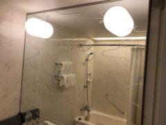 洗面所の鏡にも…