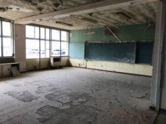水没した教室