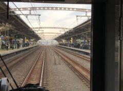 列車を待つ乗客の数がすごい