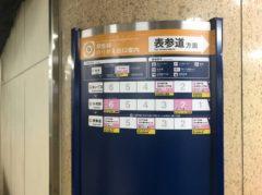 停車駅案内からわざわざ渋谷駅を消している