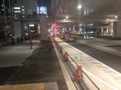 乗り場全景(JR新橋駅方面を振り返って)