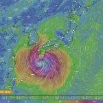 見るからに強そうな台風…