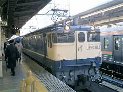 東京駅に着いた寝台急行銀河