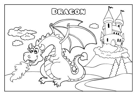 Dragon coloring book template, How to make a Dragon