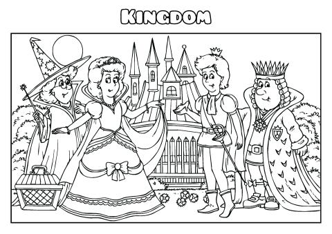 Kingdom coloring book template, How to create a Kingdom
