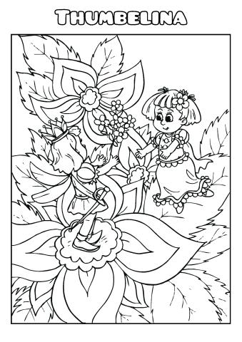 Thumbelina coloring book template, How to make a