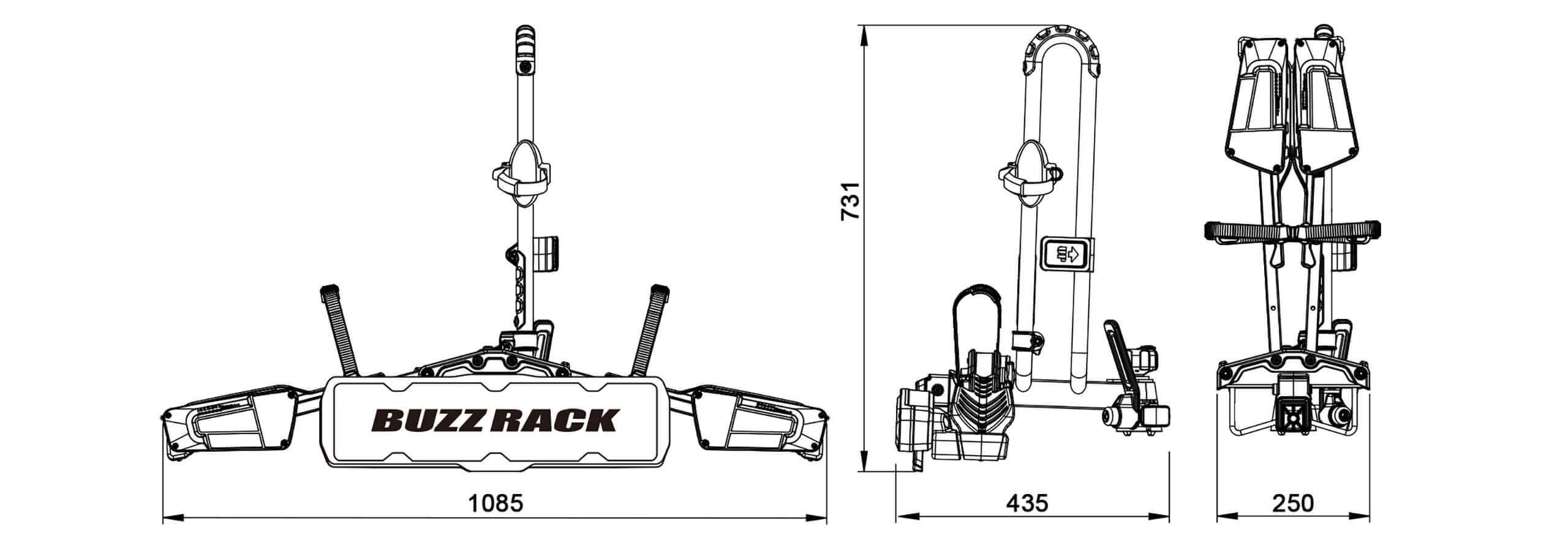 Buzz Rack Eazzy 1 Folding Bike Rack No Brp721