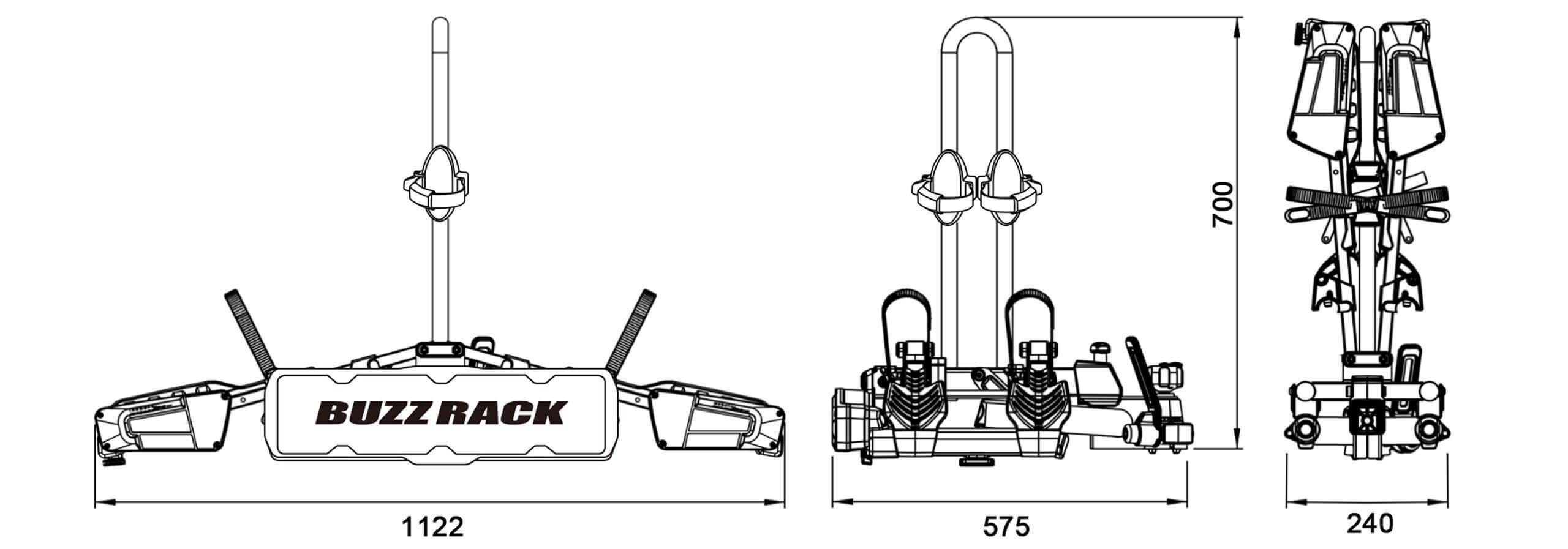 Buzz Rack Eazzy 2 Bike Folding And Tilting Rack No Brp722