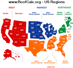 Regional Roofing Price Differences in US