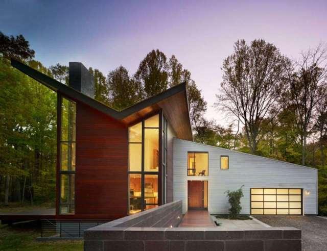 Butterfly Roof on an Ultra-Modern House