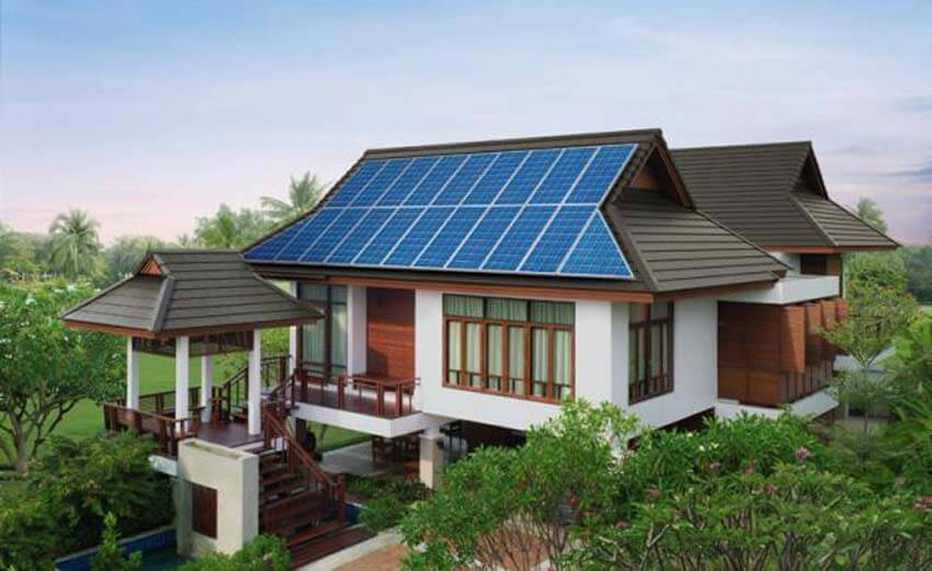 Dutch Gable Hip Roof With Metal Shingles And Solar Panels Roofcalc Org