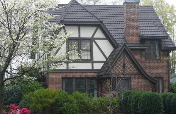 Stone Coated Steel Roof on a Tudor Style Home