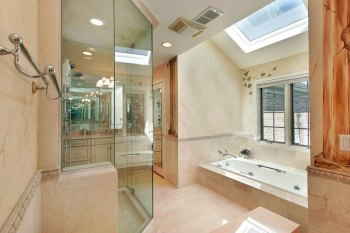 Skylight in a bathroom