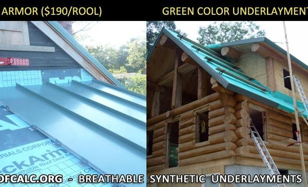 breathable synthetic roof underlayment