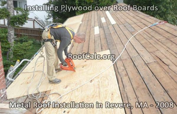 Installing Plywood over Roof Boards