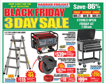 Harbor Freight Black Friday 2015 - page 1