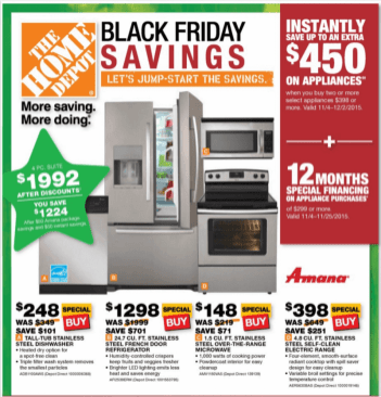 Home Depot Black Friday 2015 - 1