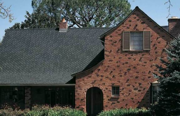 Architectural Shingles on a Tudor Style Home
