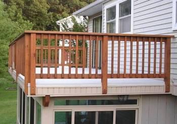 Deck on a flat roof