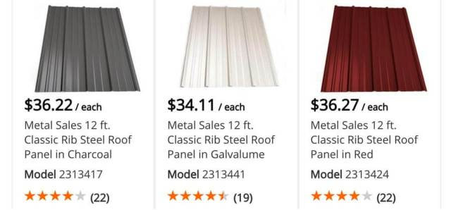Home Depot Metal Roof Prices in NH