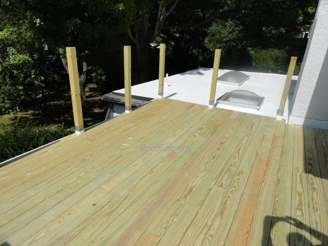 Leaking Rubber Roof replaced with IB roof + Pressure treated deck