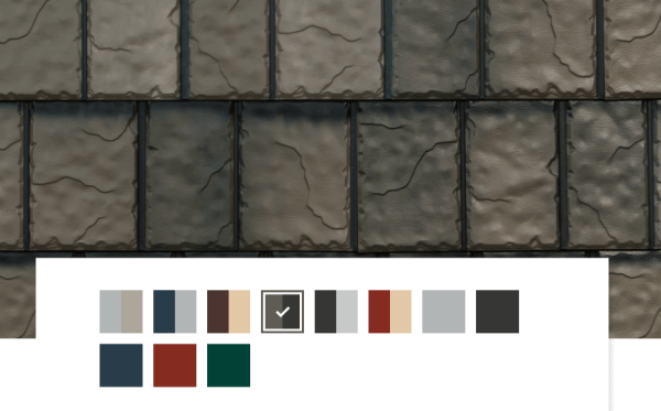 Steel Roof Colors - Two Tone Metal Slate Blend By EDCO