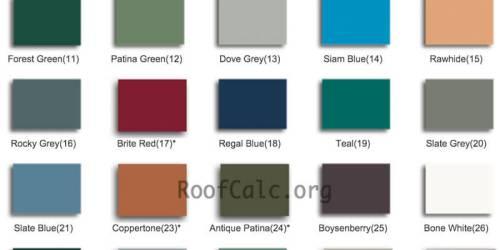 Standing Seam Metallic Colors