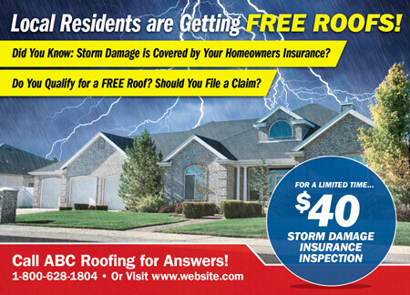 Roof replacement ads
