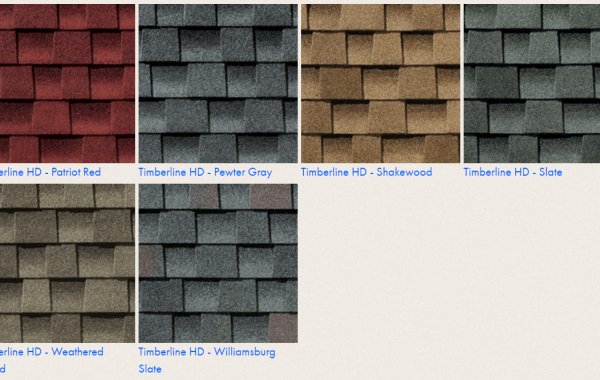 Timberline HD Shingles Colors