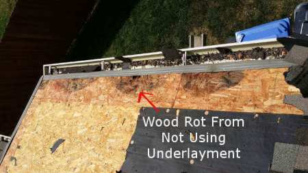 Wood Deck Rotting On Roof With No Underlayment
