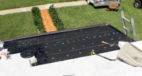 Tile Roof Repair in Progress in Miami, Fl