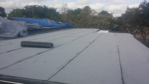 Flat roof in Miami Springs with tapered insulation