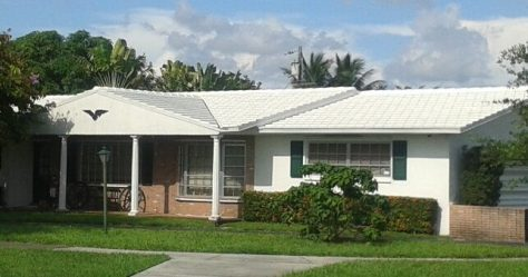 "13"" Flat White Concrete Tile Roof In Miami Springs"