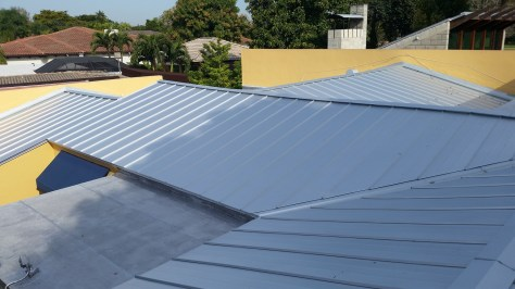 Metal Roofs in Miami With Four Flat Roofs