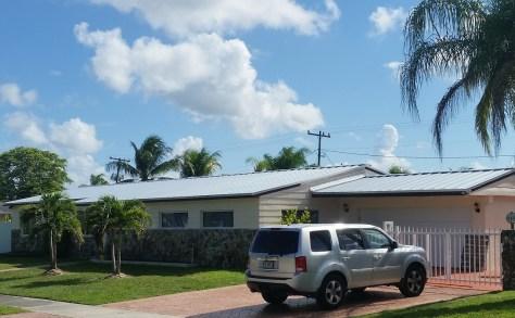 Englert 1300 mill-grade Galvalume standing seam metal roof in Kendall, Fl