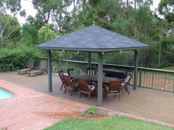 IKO Marathon Dual Black Asphalt Shingle Eltham DIY Gazebo