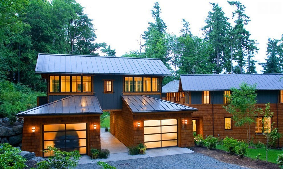 house with different color detached garage ideas - Standing Seam Metal Roof Details Costs Colors and Pros